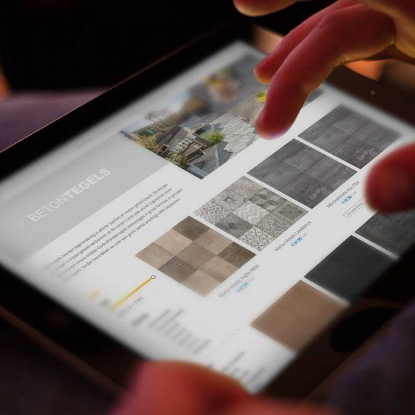 Webshop webdesign - Terras & Trends